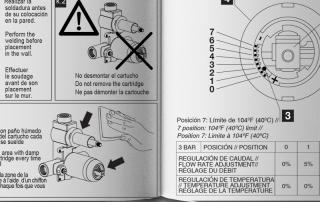 detalle técnico Manual de instrucciones